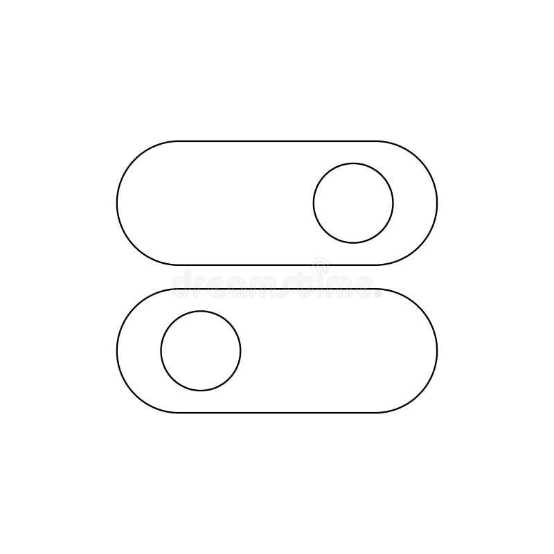 Icône d'ensemble de cabillots de commutateurs Des signes et les symboles peuvent ?tre employ?s pour le Web, logo, l'appli mobile, illustration stock