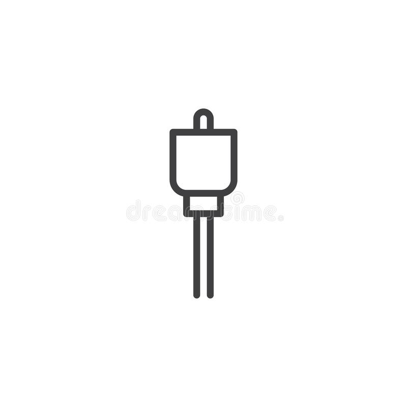 Icône d'ensemble de cable connecteur illustration libre de droits