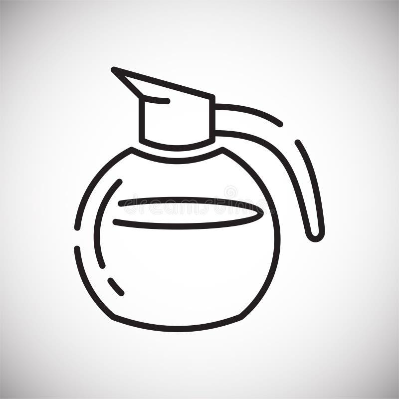 Icône d'ensemble de café sur le fond blanc pour le graphique et la conception web, signe simple moderne de vecteur Internet bleu  illustration libre de droits
