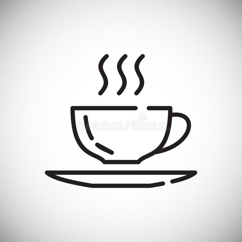 Icône d'ensemble de café sur le fond blanc pour le graphique et la conception web, signe simple moderne de vecteur Internet bleu  illustration stock