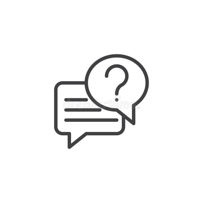 Icône d'ensemble de causerie de conversation illustration libre de droits