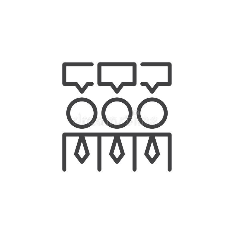 Icône d'ensemble de consensus illustration de vecteur