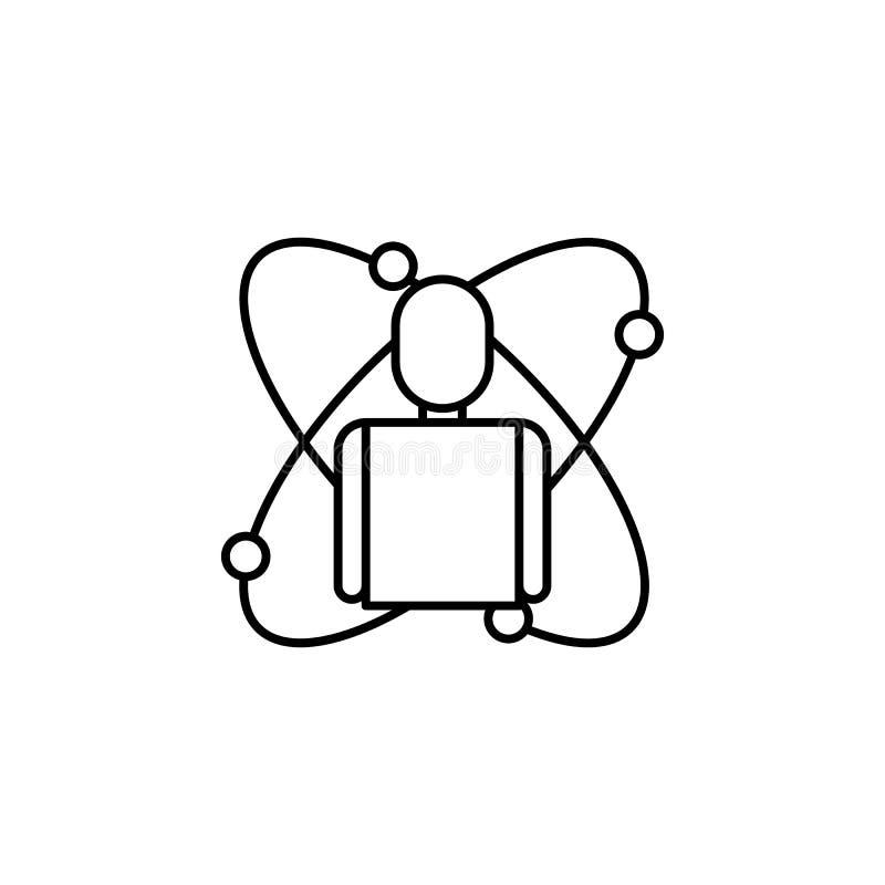 Icône d'ensemble de corps de robotique Des signes et les symboles peuvent être employés pour le Web, logo, l'appli mobile, UI, UX illustration libre de droits