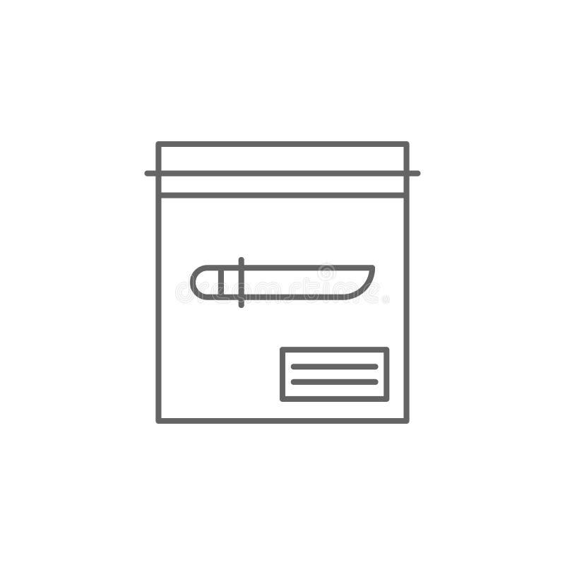 Icône d'ensemble de couteau de justice Éléments de ligne icône d'illustration de loi Des signes, les symboles et le s peuvent êtr illustration stock