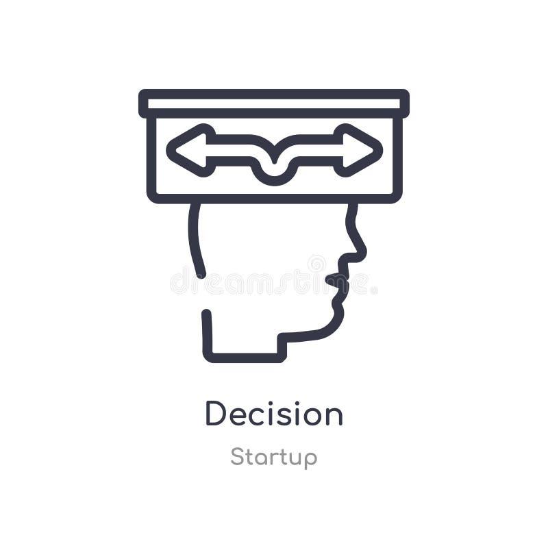 icône d'ensemble de décision ligne d'isolement illustration de vecteur de la collection de d?marrage icône mince editable de déci illustration stock