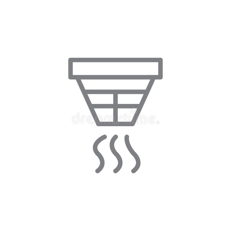 Icône d'ensemble de détecteur de fumée r Des signes et les symboles peuvent ?tre employ?s pour le Web, logo, mobile illustration de vecteur