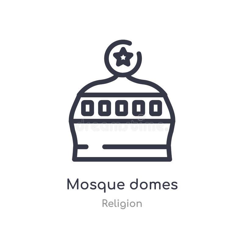 icône d'ensemble de dômes de mosquée ligne d'isolement illustration de vecteur de collection de religion icône mince editable de  illustration stock