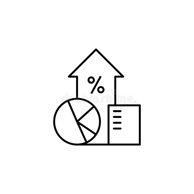 Icône d'ensemble de diagramme de finances de diagrammes Élément d'icône d'illustration de finances des signes, symboles peuvent ê illustration de vecteur