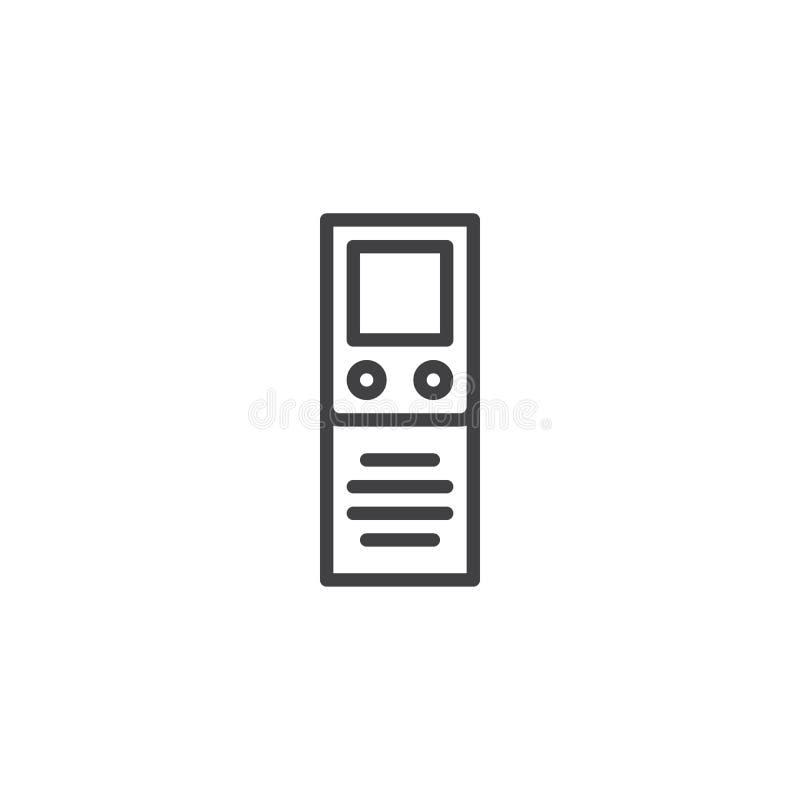 Icône d'ensemble de dictaphone de Digital illustration de vecteur