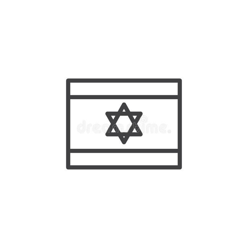 Icône d'ensemble de drapeau de l'Israël illustration stock