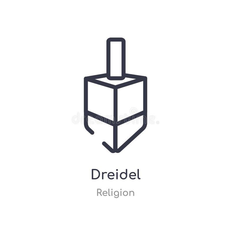 icône d'ensemble de dreidel ligne d'isolement illustration de vecteur de collection de religion icône mince editable de dreidel d illustration stock