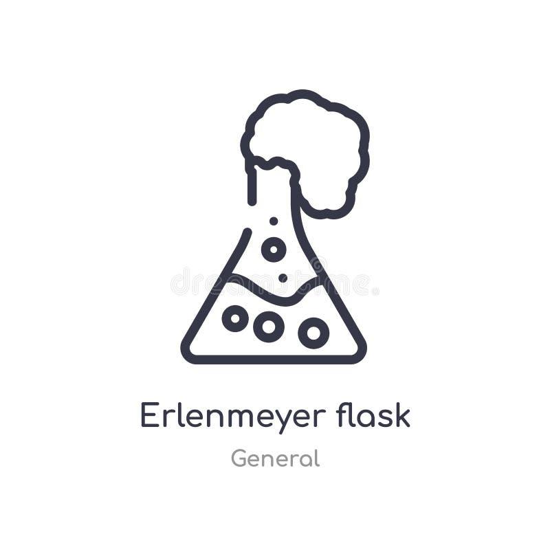 icône d'ensemble de flacon erlenmeyer ligne d'isolement illustration de vecteur de la collection g?n?rale flacon erlenmeyer mince illustration libre de droits