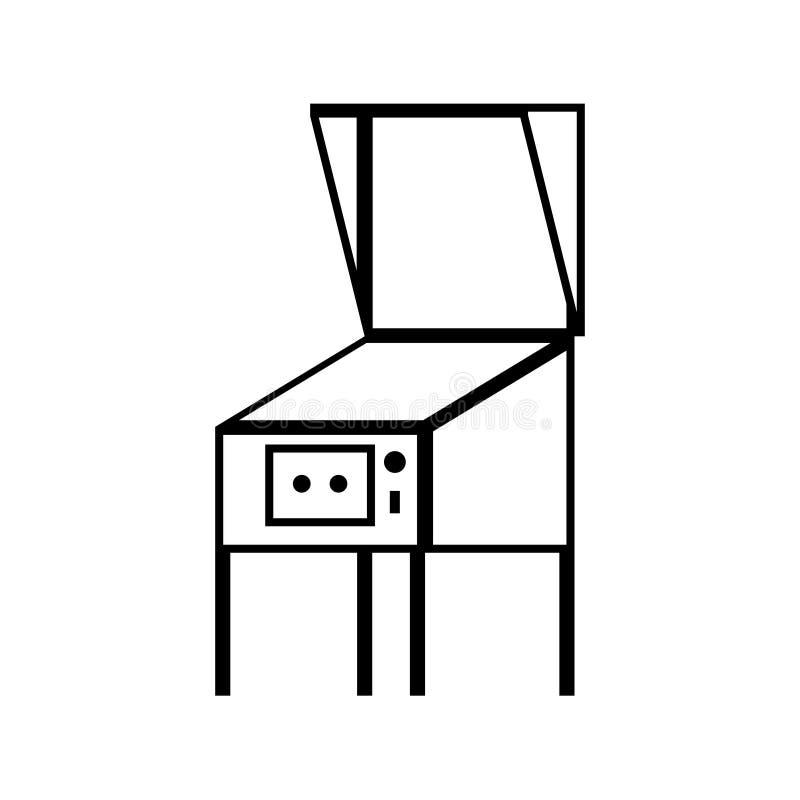 Icône d'ensemble de flipper illustration de vecteur