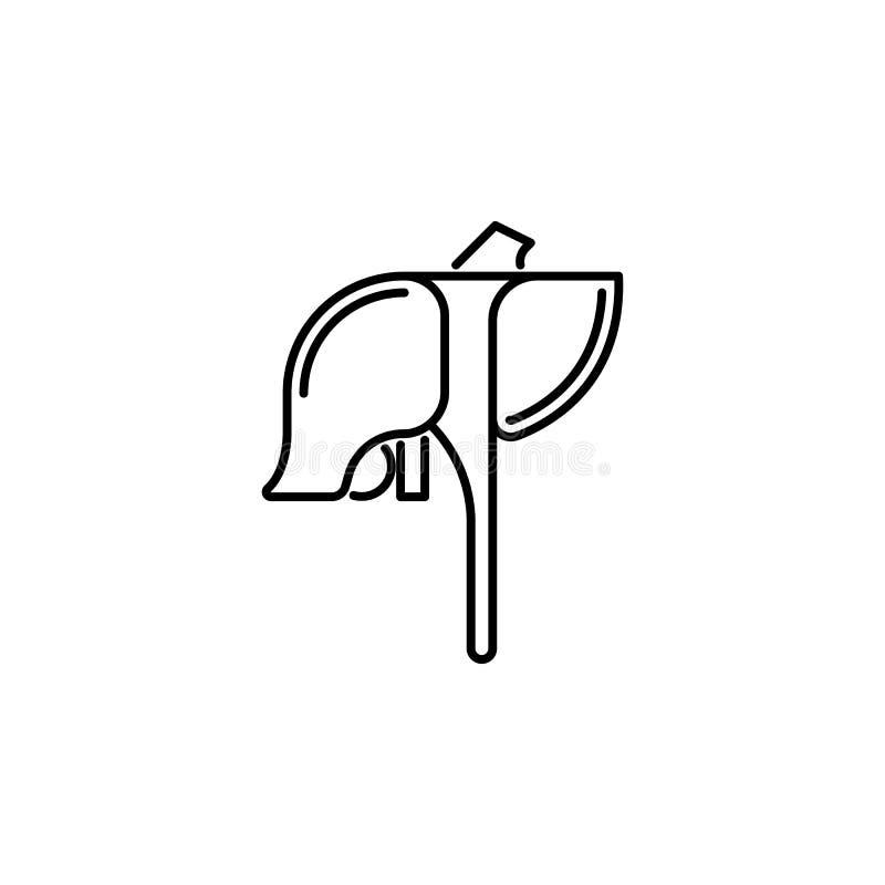 Icône d'ensemble de foie d'organe humain Des signes et les symboles peuvent être employés pour le Web, logo, l'appli mobile, UI,  illustration stock