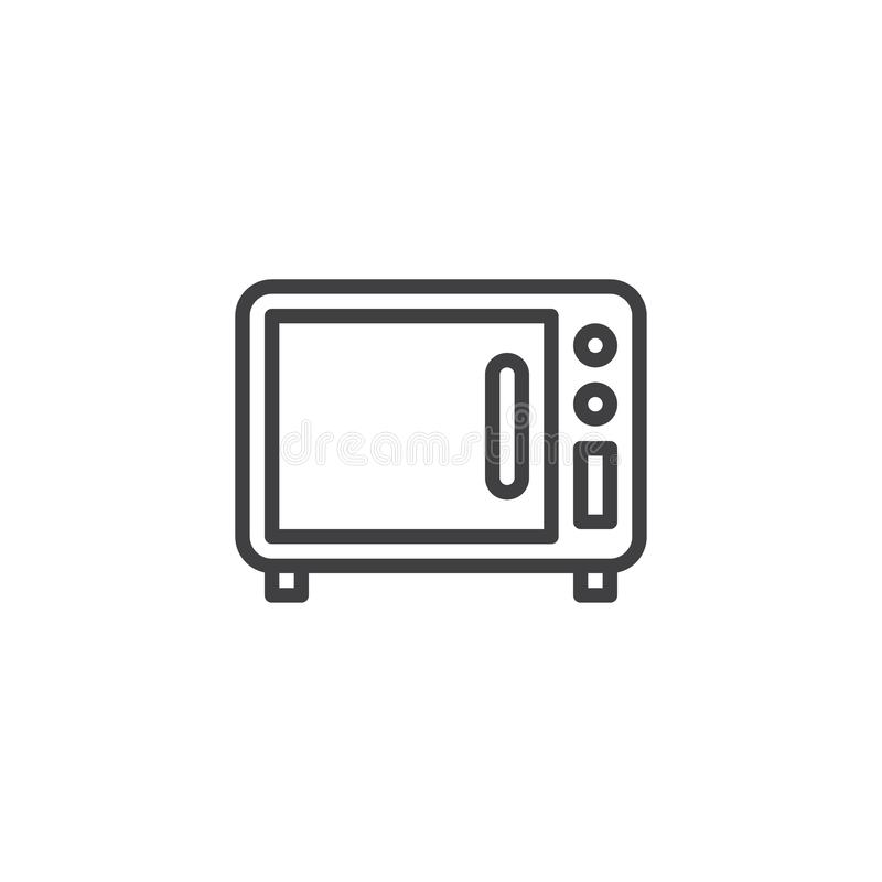 Icône d'ensemble de four à micro-ondes illustration stock
