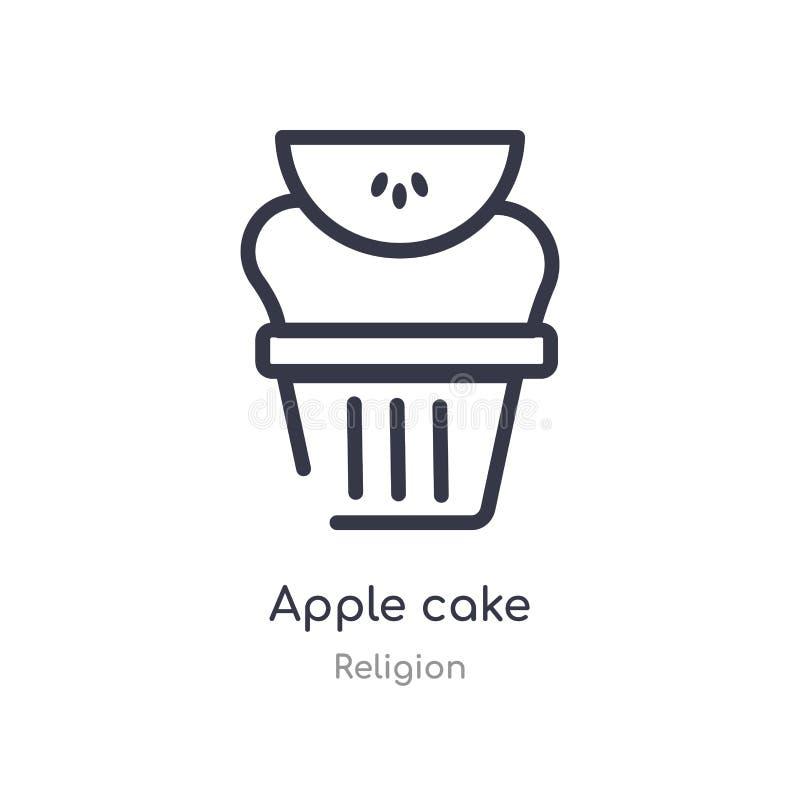 icône d'ensemble de gâteau aux pommes ligne d'isolement illustration de vecteur de collection de religion icône mince editable de illustration libre de droits