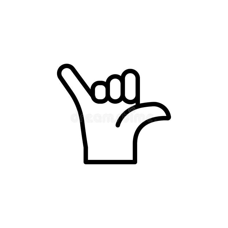 Icône d'ensemble de geste d'appel de main Élément d'icône d'illustration de geste de main des signes, symboles peuvent être emplo illustration de vecteur