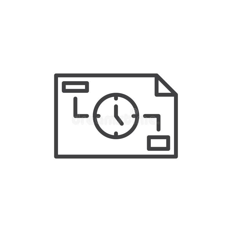 Icône d'ensemble de gestion du temps illustration de vecteur