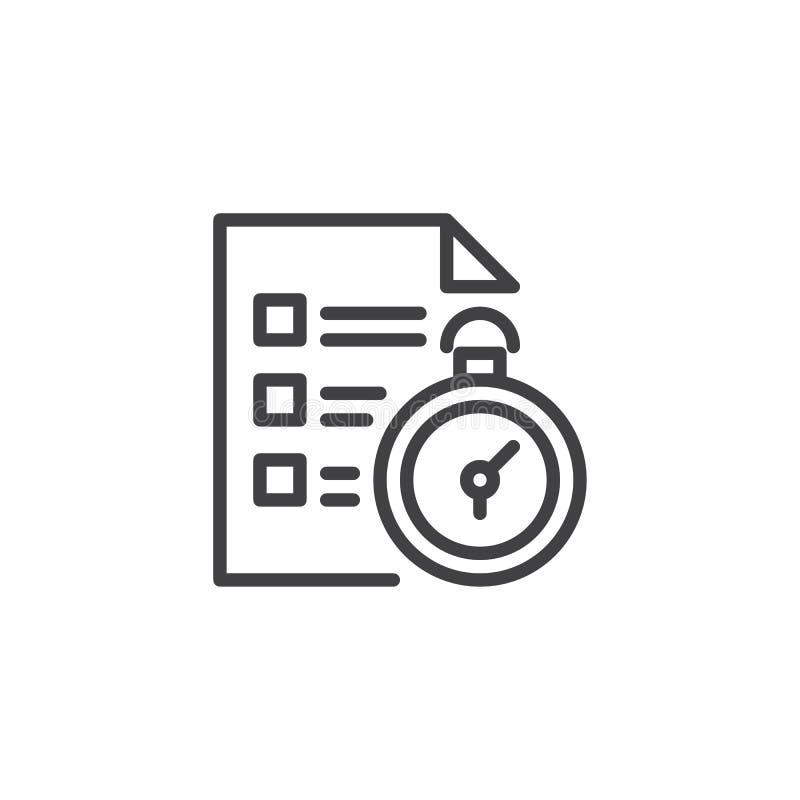 Icône d'ensemble de gestion du temps illustration stock