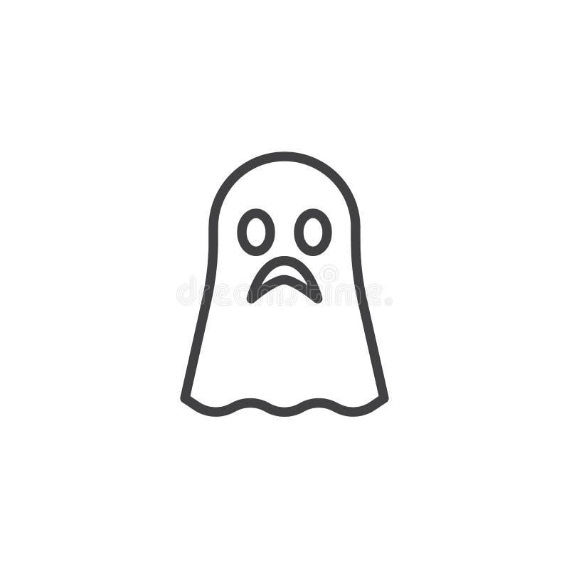 Icône d'ensemble de Ghost illustration de vecteur