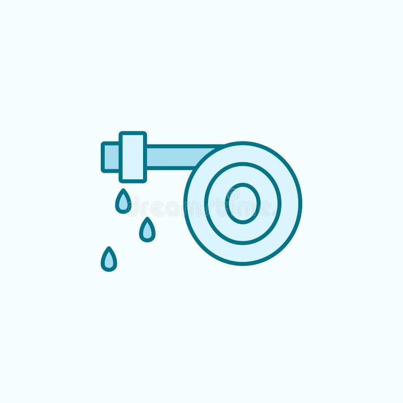 icône d'ensemble de gisement de tuyau d'incendie Élément d'icône de arrosage d'égouttement Ligne mince icône pour la conception d illustration stock