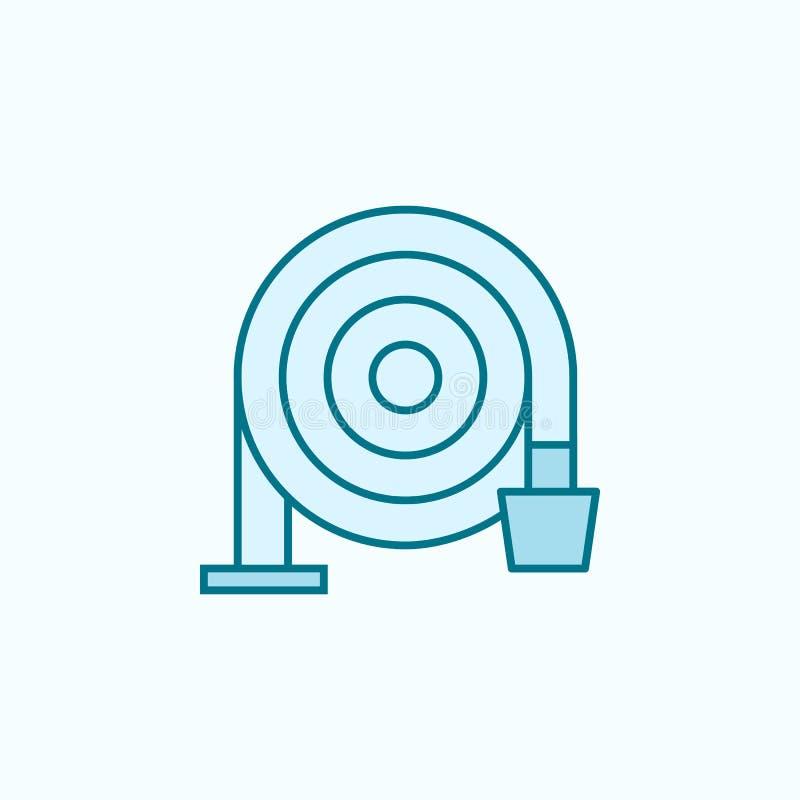 icône d'ensemble de gisement de tuyau d'incendie Élément d'icône de arrosage d'égouttement Ligne mince icône pour la conception d illustration libre de droits