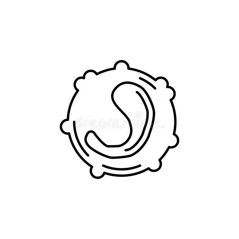 Icône d'ensemble de globule blanc d'organe humain Des signes et les symboles peuvent être employés pour le Web, logo, l'appli mob illustration libre de droits