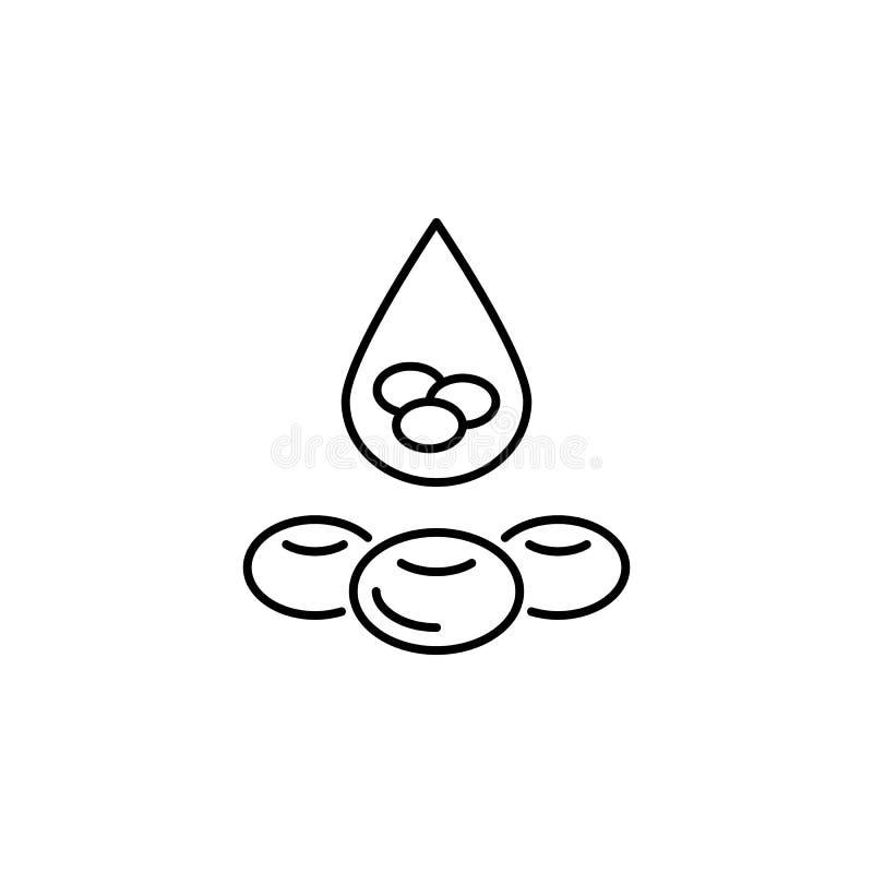 Icône d'ensemble de globule sanguin d'organe humain Des signes et les symboles peuvent être employés pour le Web, logo, l'appli m illustration libre de droits
