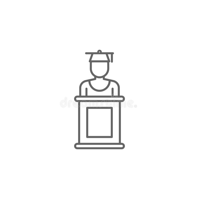 Icône d'ensemble de juge de justice Éléments de ligne icône d'illustration de loi Des signes, les symboles et les vecteurs peuven illustration de vecteur