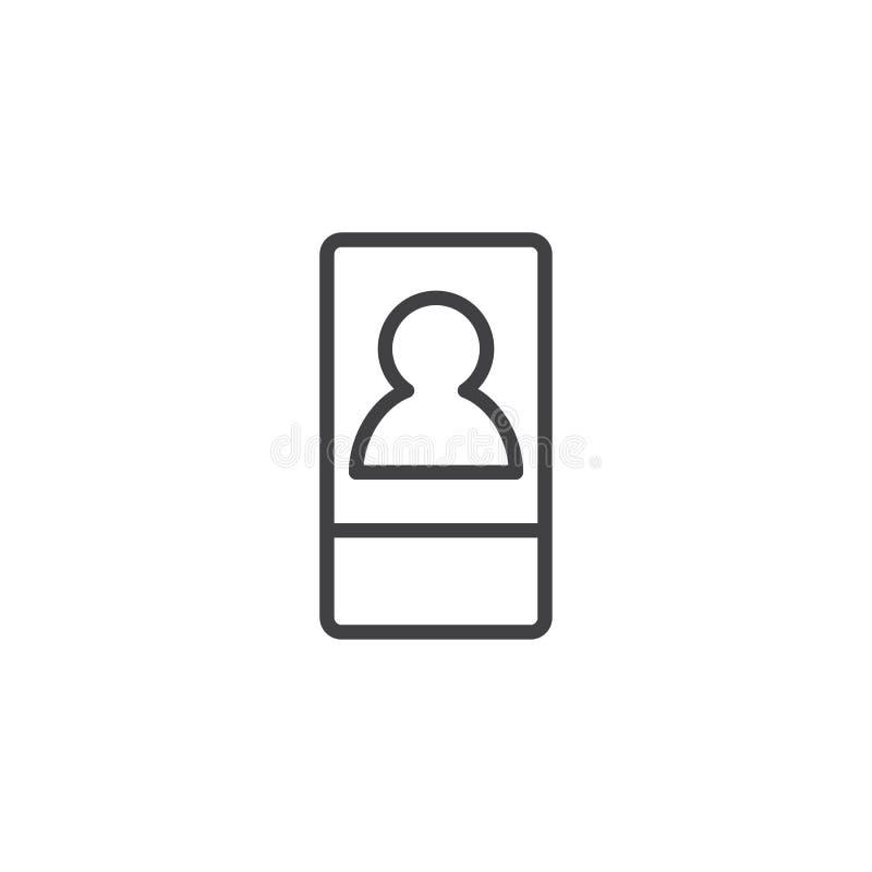 Icône d'ensemble de keycard d'hôtel illustration stock