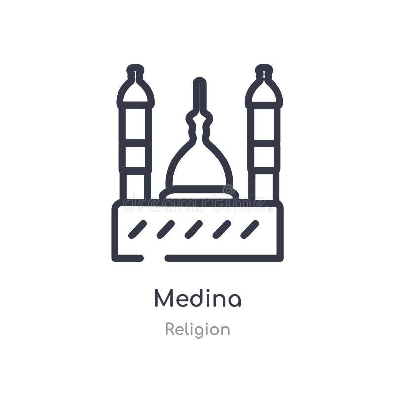 icône d'ensemble de la Médina ligne d'isolement illustration de vecteur de collection de religion icône mince editable de la Médi illustration de vecteur