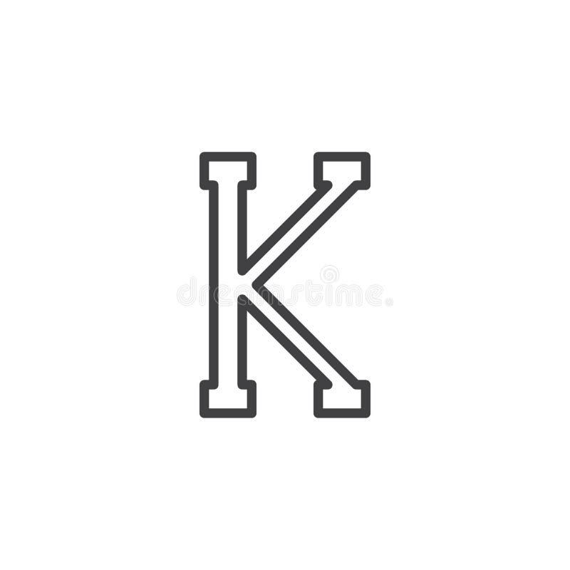 Icône d'ensemble de lettre de Kappa illustration stock