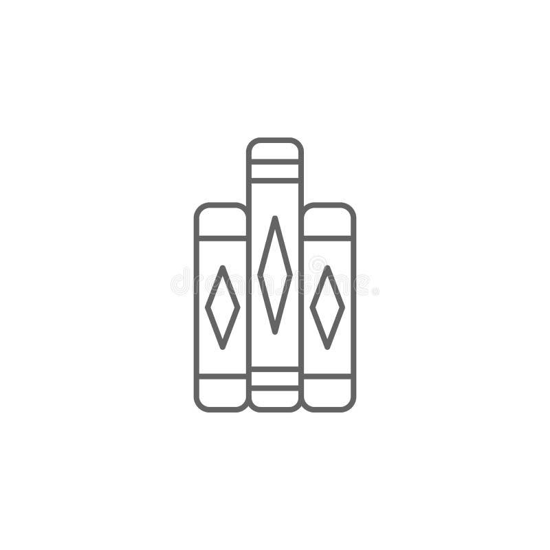 Icône d'ensemble de livres de justice Éléments de ligne icône d'illustration de loi Des signes, les symboles et les vecteurs peuv illustration libre de droits