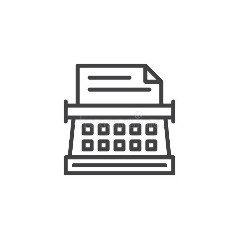 Icône d'ensemble de machine d'écriture illustration de vecteur