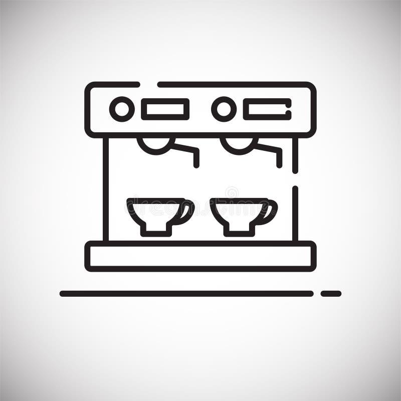 Icône d'ensemble de machine de café sur le fond blanc pour le graphique et la conception web, signe simple moderne de vecteur Int illustration de vecteur