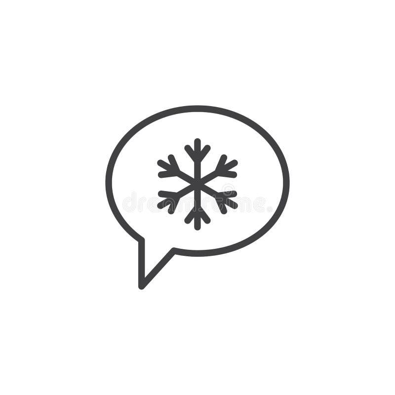 Icône d'ensemble de message de causerie de Noël illustration stock