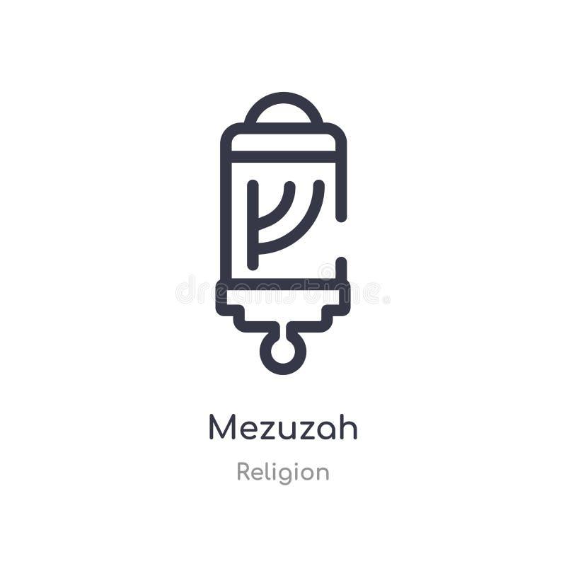 icône d'ensemble de mezuzah ligne d'isolement illustration de vecteur de collection de religion icône mince editable de mezuzah d illustration stock
