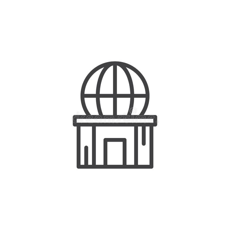 Icône d'ensemble de planétarium illustration de vecteur