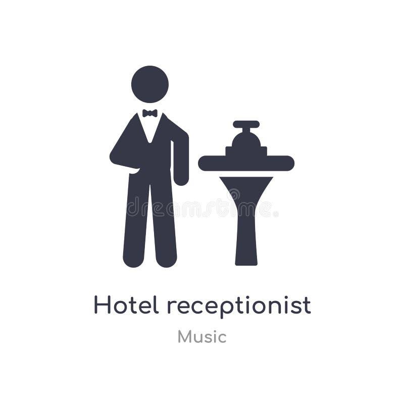 icône d'ensemble de réceptionniste d'hôtel r réceptionniste mince editable d'hôtel de course illustration de vecteur