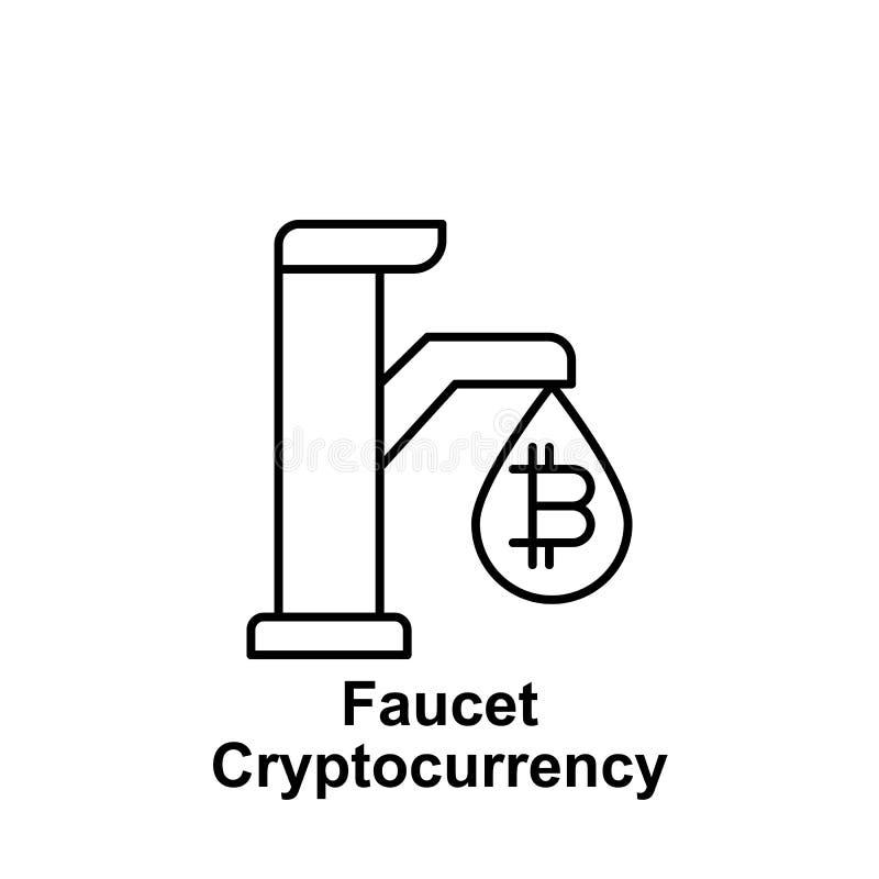 Icône d'ensemble de robinet de Bitcoin Élément des icônes d'illustration de bitcoin Des signes et les symboles peuvent être emplo illustration libre de droits