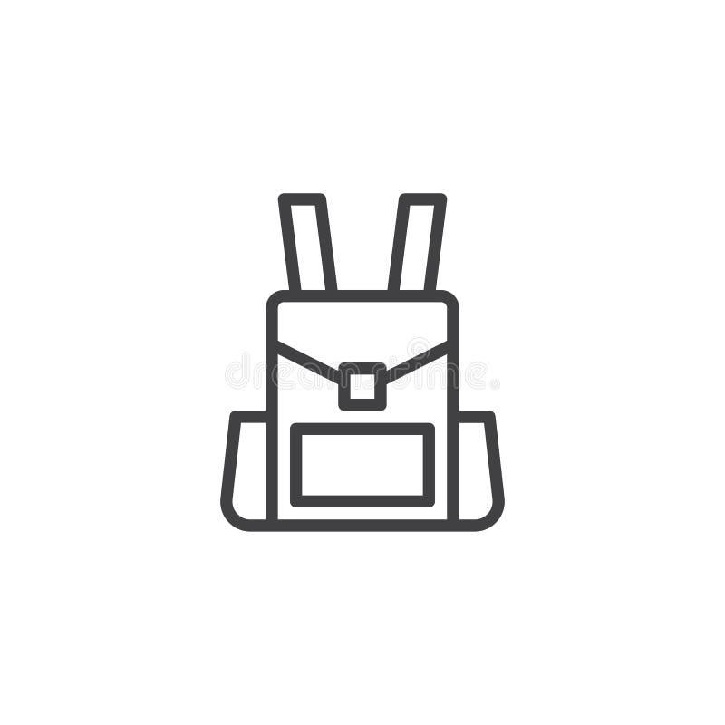 Icône d'ensemble de sac à dos illustration de vecteur