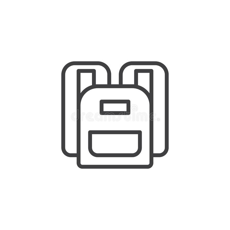 Icône d'ensemble de sac à dos illustration libre de droits