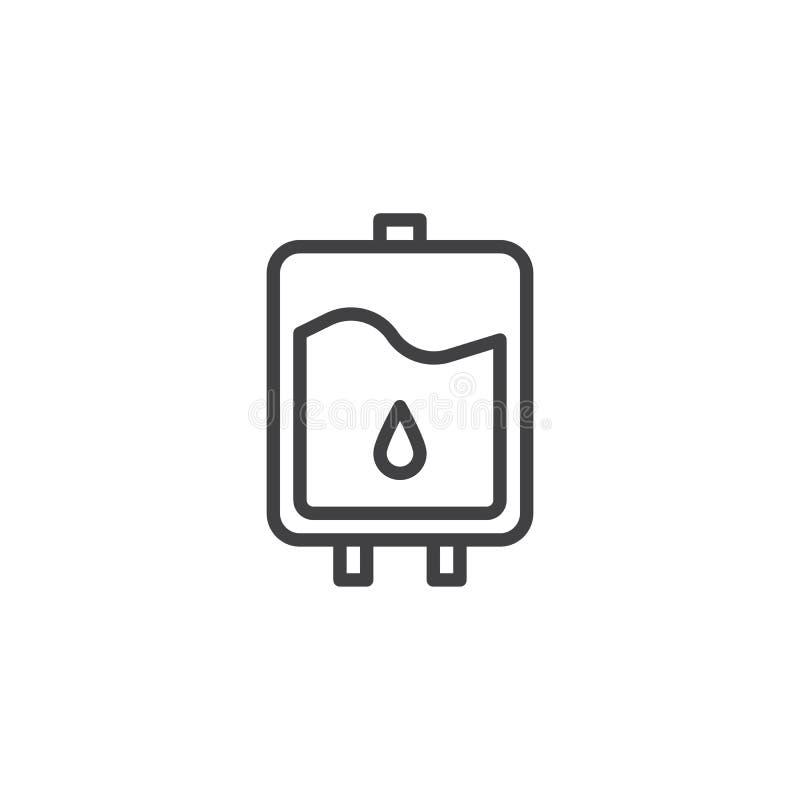 Icône d'ensemble de sac de sang illustration de vecteur
