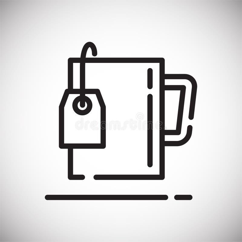 Icône d'ensemble de sachet à thé sur le fond blanc pour le graphique et la conception web, signe simple moderne de vecteur Intern illustration stock