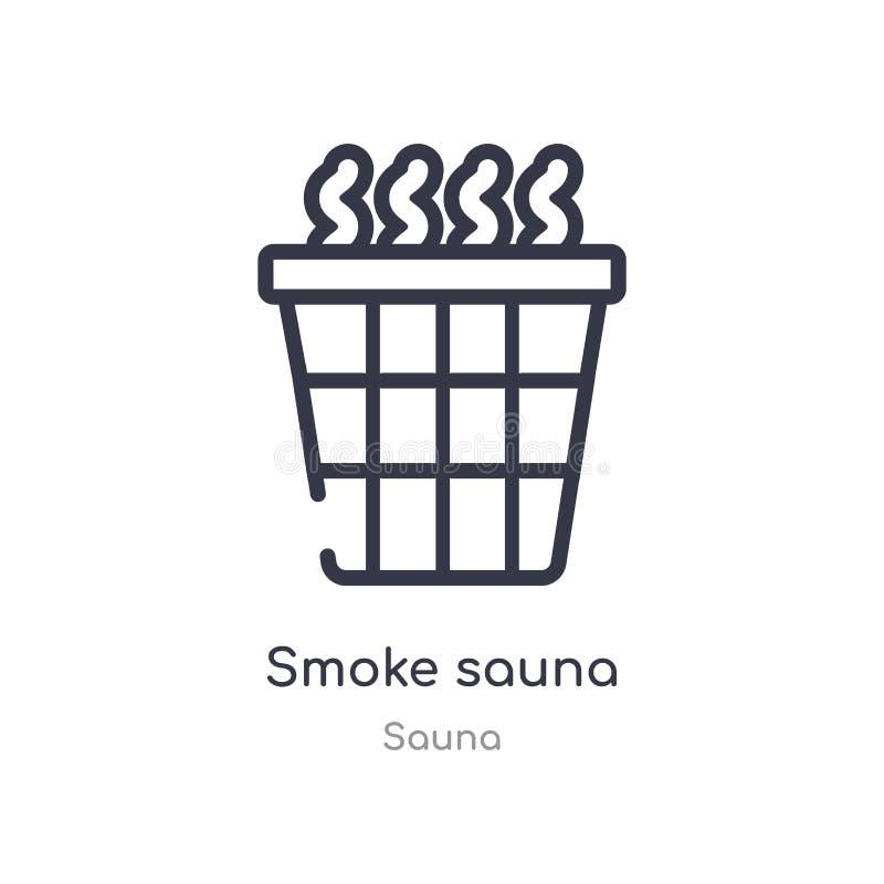 icône d'ensemble de sauna de fumée ligne d'isolement illustration de vecteur de collection de sauna icône mince editable de sauna illustration stock
