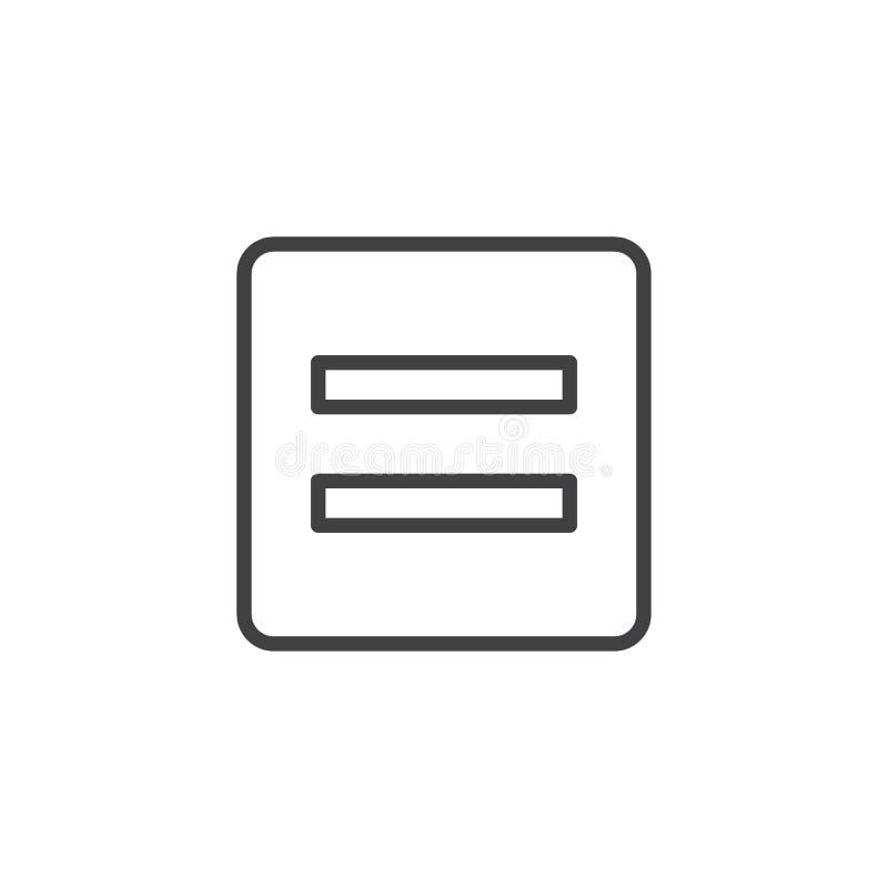 Icône d'ensemble de signe d'égalité de maths illustration de vecteur