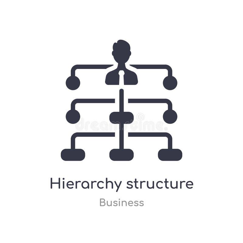 icône d'ensemble de structure de hiérarchie ligne d'isolement illustration de vecteur de collection d'affaires hiérarchie mince e illustration libre de droits