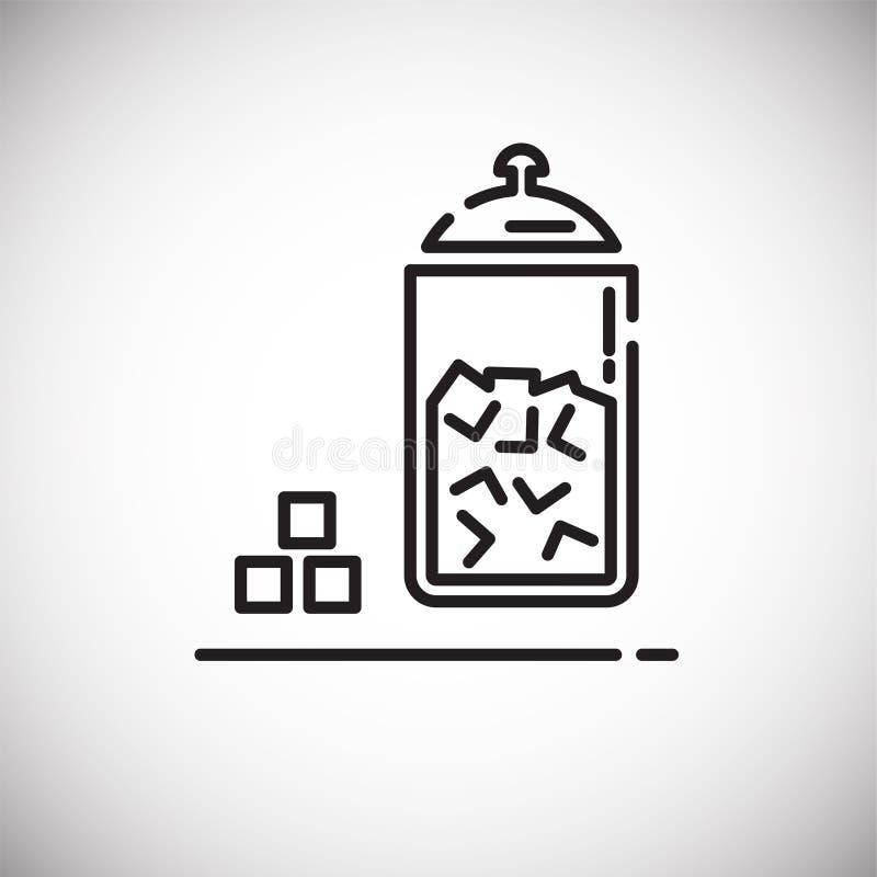 Icône d'ensemble de sucre sur le fond blanc pour le graphique et la conception web, signe simple moderne de vecteur Internet bleu illustration de vecteur