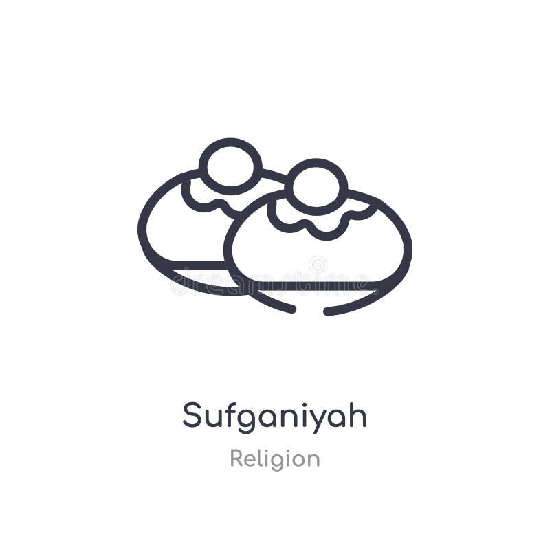 icône d'ensemble de sufganiyah ligne d'isolement illustration de vecteur de collection de religion icône mince editable de sufgan illustration libre de droits