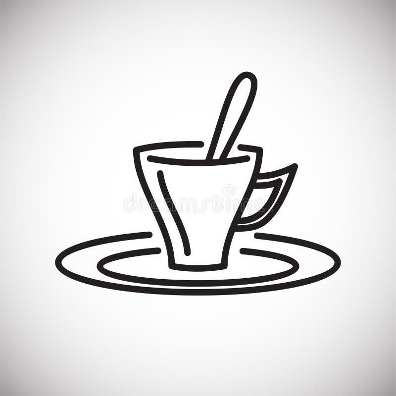 Icône d'ensemble de thé sur le fond blanc pour le graphique et la conception web, signe simple moderne de vecteur Internet bleu d illustration de vecteur